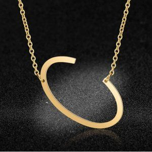 Jewelry - Stainless Steel Fashion Monogram C Necklace